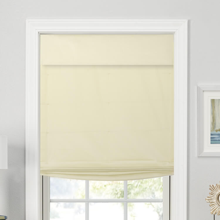 Relaxed Tailored Roman Shades