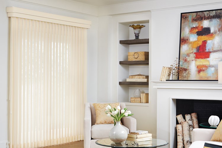 Bali Vertical Blinds in a neutral, elegant color