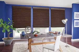 Renewable and sustainable Bali Looped Roman Natural Shades with Edge Banding
